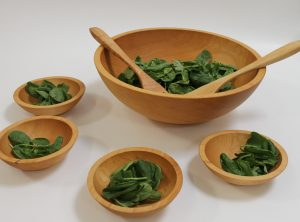17 inch Maple Salad Bowl Set – Bee's Oil Finish