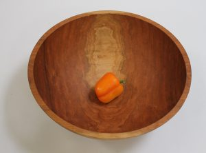 20 inch Cherry Bowl – Bee's Oil Finish