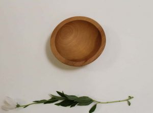 6 inch Beech Bowl – Bee's Oil Finish