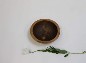 small dark walnut bowl