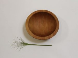 6 inch Beech Bowl – Light Walnut & Bee's Oil Finish