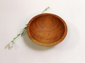 7 inch Cherry Bowl – Bee's Oil Finish