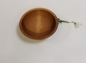 8 inch Beech Bowl – Bee's Oil Finish