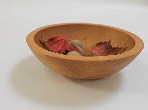 8 inch Beech Bowl – Light Walnut & Bee's Oil Finish