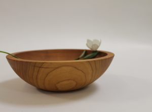 8 inch Cherry Bowl – Bee's Oil Finish