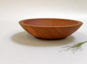 9 inch Cherry Bowl – Bee's Oil Finish
