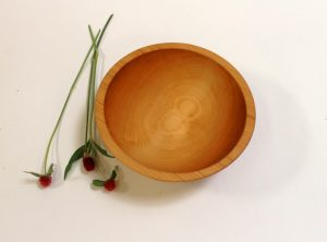 10 inch Hard Maple Bowl – Bee's Oil Finish