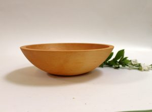 12 inch Maple Bowl – Bee's Oil Finish