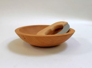 Wooden chopping bowl