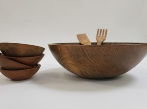 17 inch Beech Bowl Set – Dark Walnut Finish