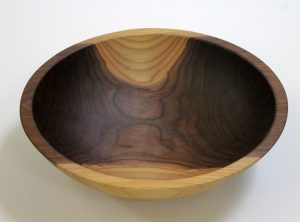 12 inch Walnut Bowl – Bee's Oil Finish