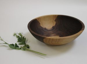 15 inch Walnut Bowl – Bee's Oil Finish