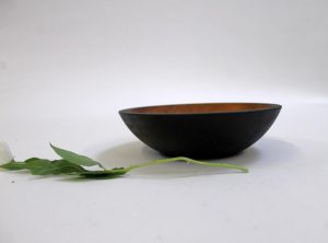 7 inch Ebonized Cherry Bowl – Bee's Oil Finish