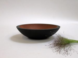 9 inch Ebonized Cherry Bowl – Bee's Oil Finish