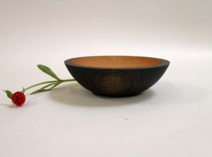 "7"" ebonized red oak bowl"