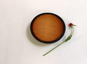 7 inch Ebonized Red Oak Bowl – Bee's Oil Finish