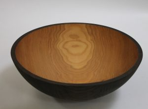 20 inch Ebonized Red Oak Large Wooden Bowls – Bee's Oil Finish