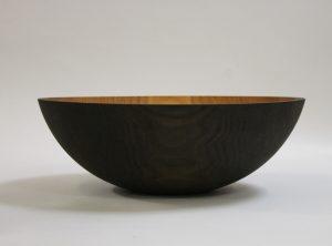 20 inch Ebonized Red Oak Bowl – Bee's Oil Finish