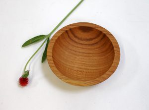 6 inch Red Oak Wood Bowl – Bee's Oil Finish