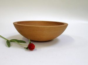 8 inch Red Oak Wood Bowls