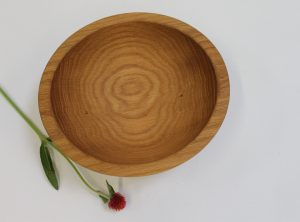 8 inch Red Oak Wood Bowls – Bee's Oil Finish