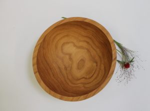 10 inch Red Oak Wooden Bowl – Bee's Oil Finish