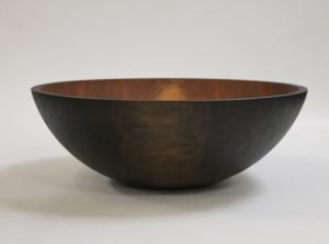 20 inch Ebonized Cherry Wooden Bowl – Bee's Oil Finish