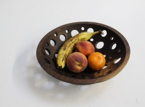 12 inch Solid Walnut Fruit Bowl