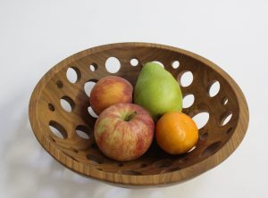 12 inch Solid Cherry Fruit Bowl – Featured in 2015 May/June Edition of Midwest Living Magazine