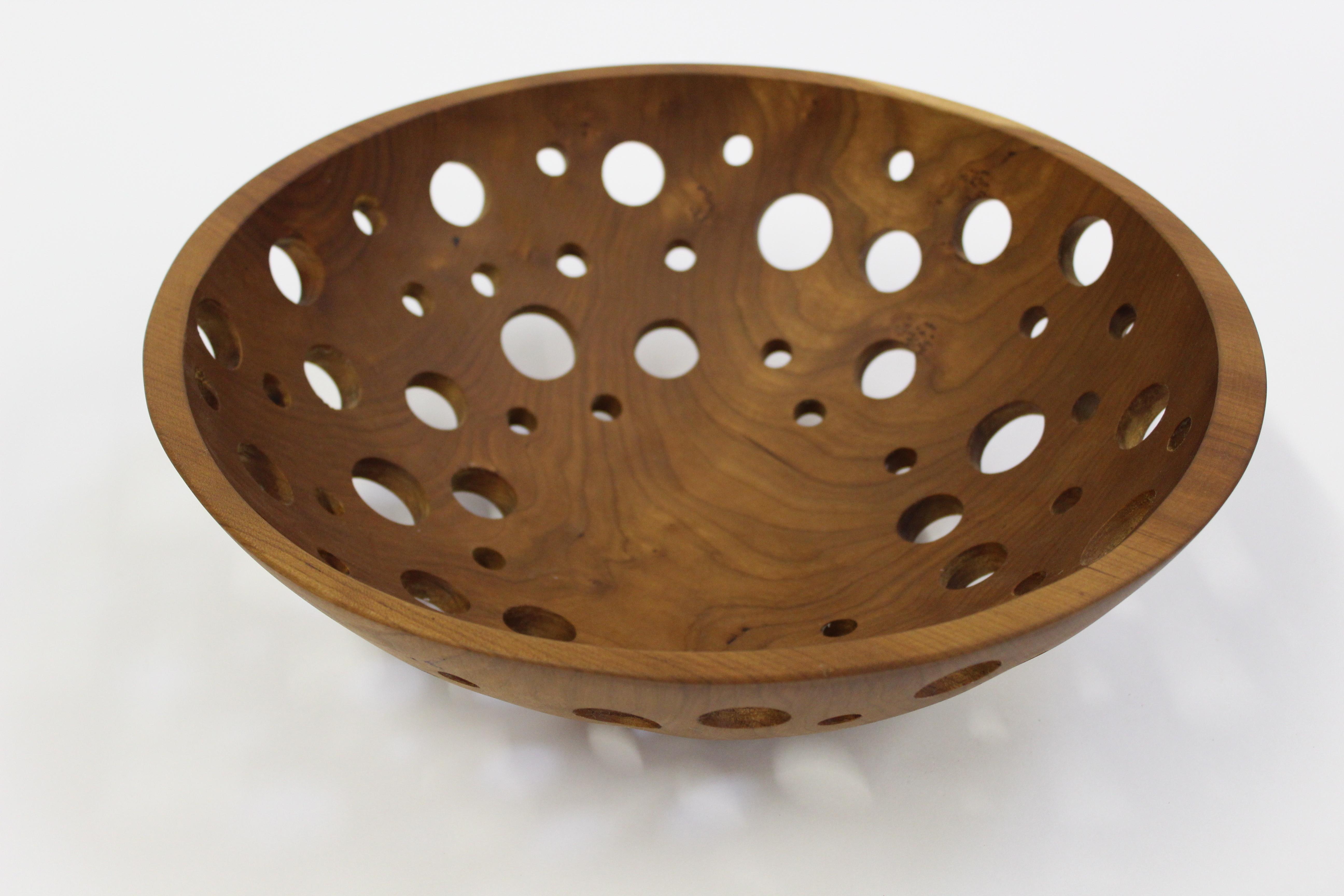 Decorative Wooden Fruit Bowls 15 Inch Cherry Fruit Bowl