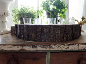 5 Piece Rustic Candle Holder
