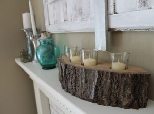 4 Piece Rustic Candle Holder