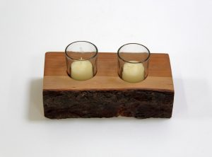 2pcs. Rustic Candle Holder